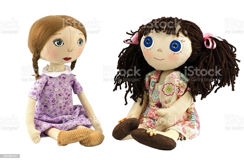 Dois pano bonecas - foto de acervo