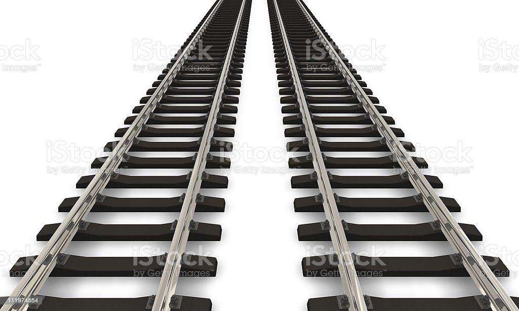 Two railroad tracks royalty-free stock photo