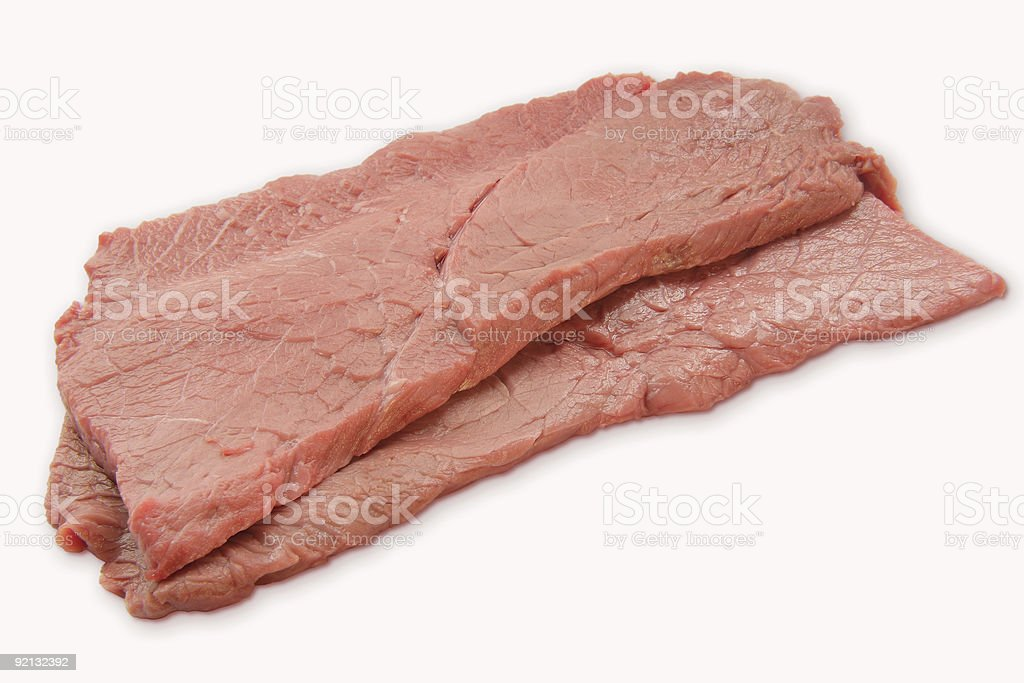 Two raw fillet steak. royalty-free stock photo