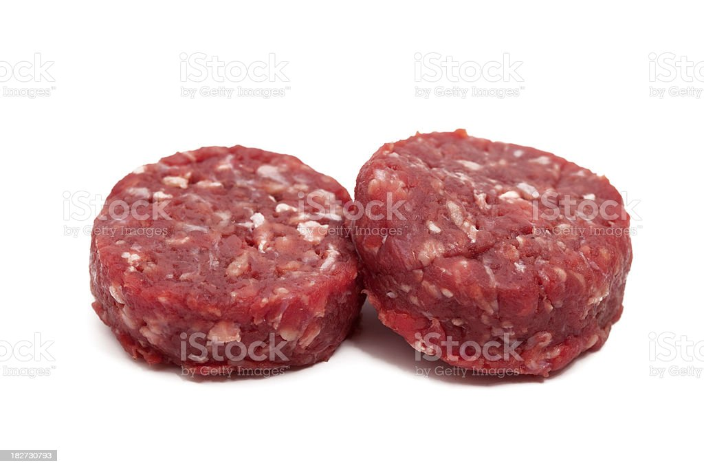 two raw hamburger royalty-free stock photo