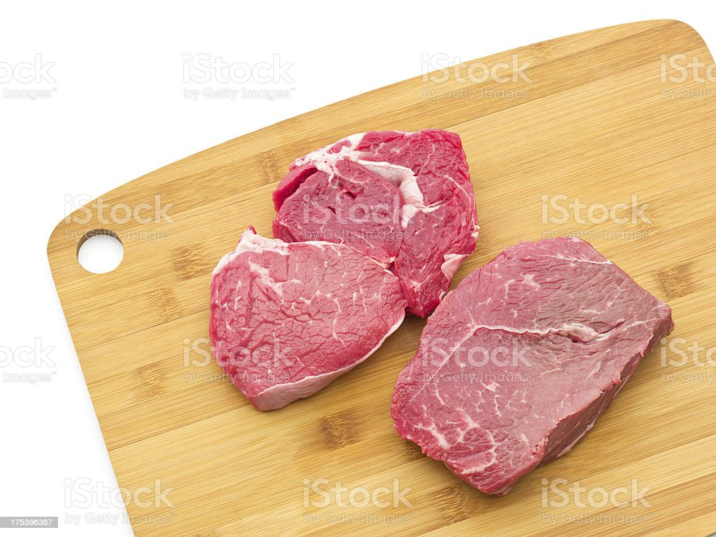 Two Raw Steaks royalty-free stock photo