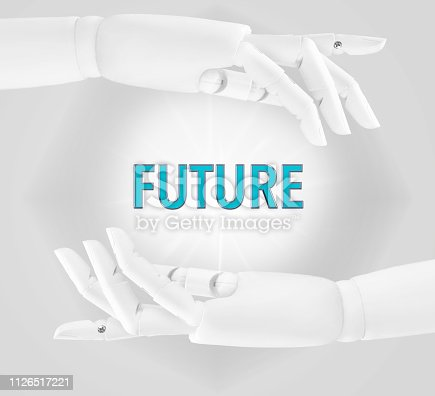 Ai, technology, robot, efficiency and future concept