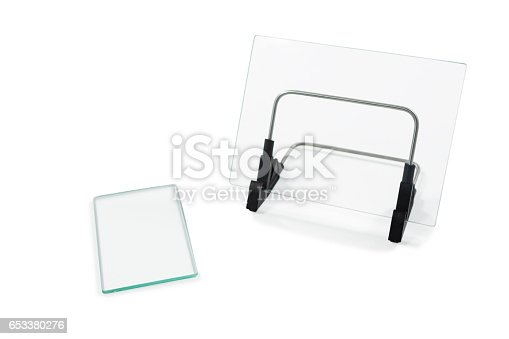 istock Two rectangular sheet of glass 653380276