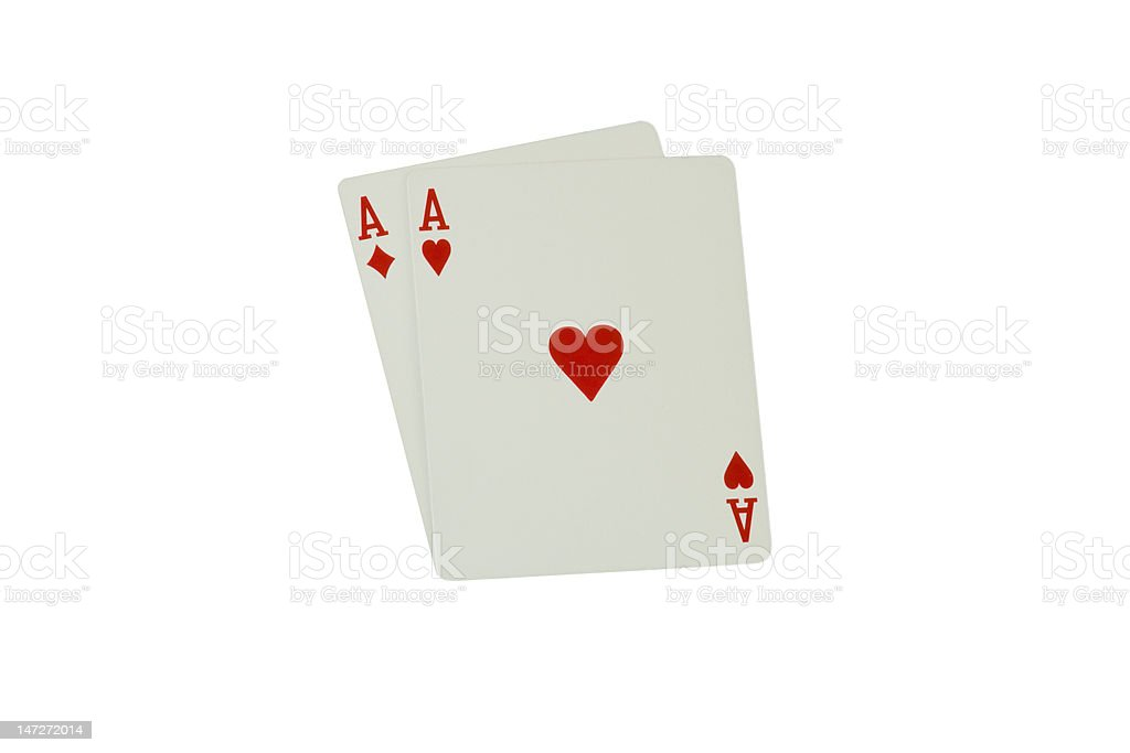 Two Red Aces royalty-free stock photo