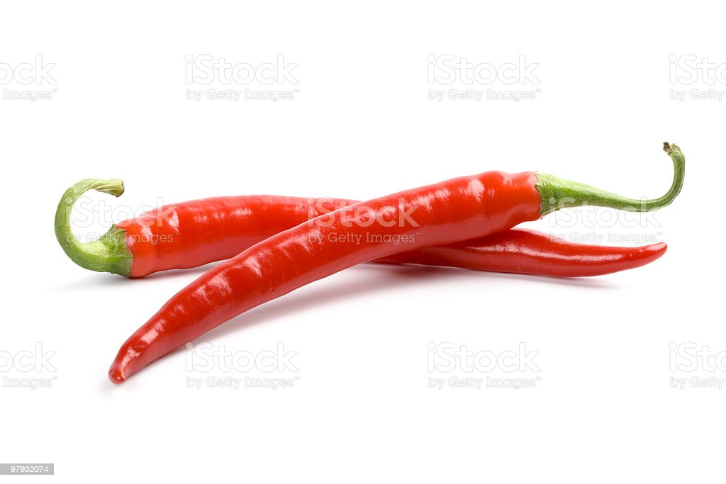 two red chili royalty-free stock photo