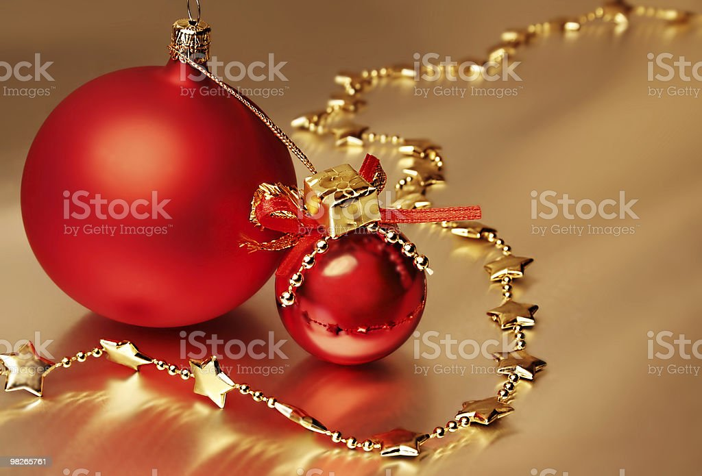 Due palle di Natale Rosso foto stock royalty-free