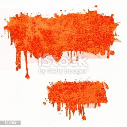 istock Two red dripping banners 185426014