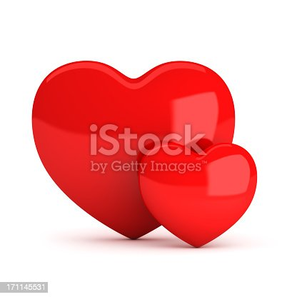 istock Two red heart 171145531