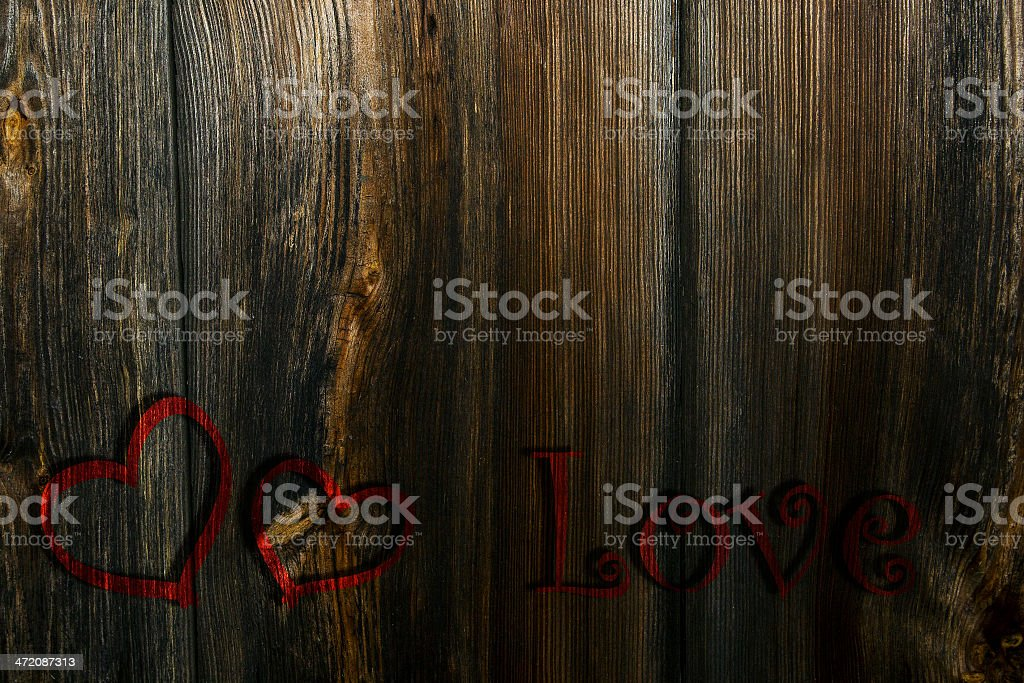 Two red hearts and the inscription on a background stock photo