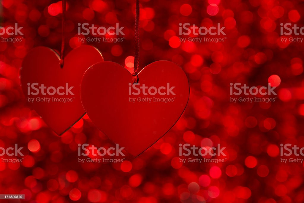Two Red Hearts royalty-free stock photo