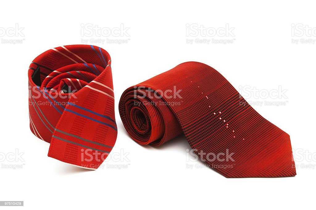 two red necktie royalty-free stock photo