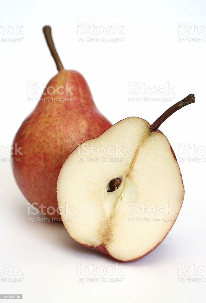 Two red pears royalty-free stock photo