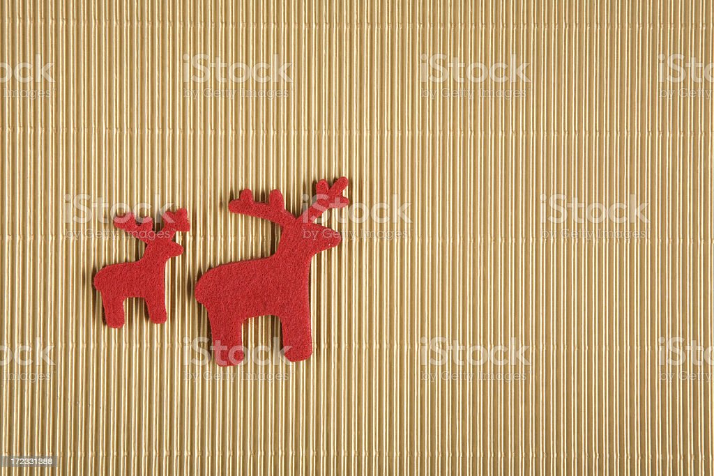 Two reindeers royalty-free stock photo