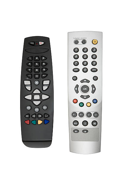 Two Remote Controls (Clipping Paths Included) stock photo