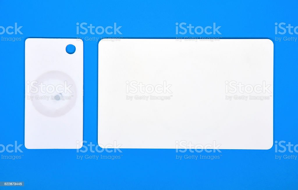 two RFID cards stock photo