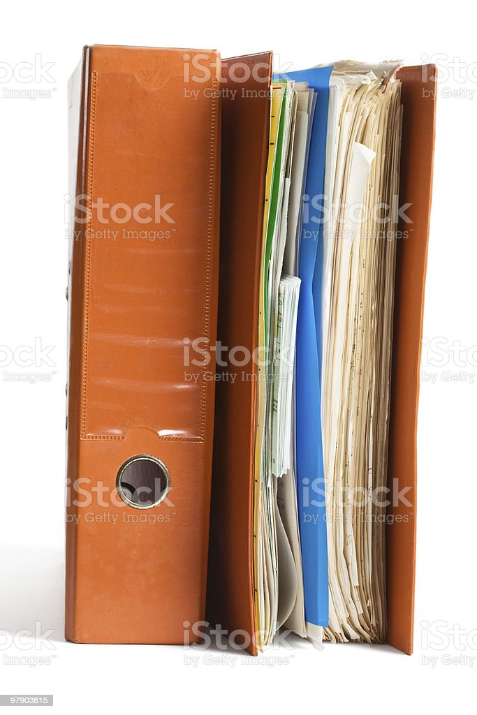 Two Ring Binders royalty-free stock photo