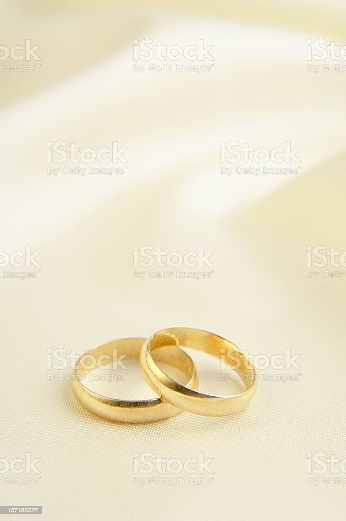 Two rings in white background royalty-free stock photo