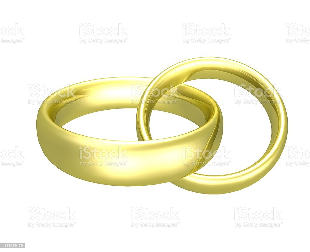 two rings royalty-free stock photo