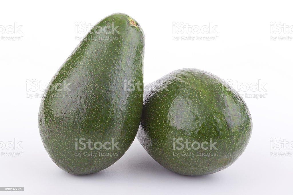 Two ripe avocados. royalty-free stock photo
