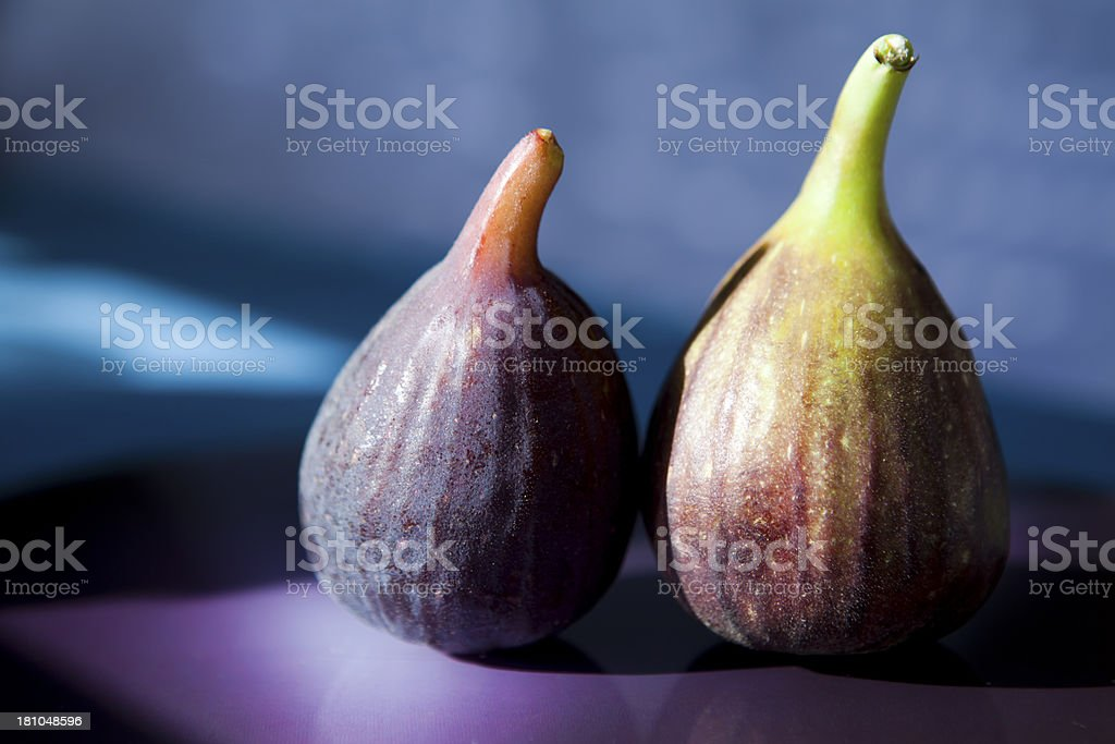 Two Ripe Figs royalty-free stock photo