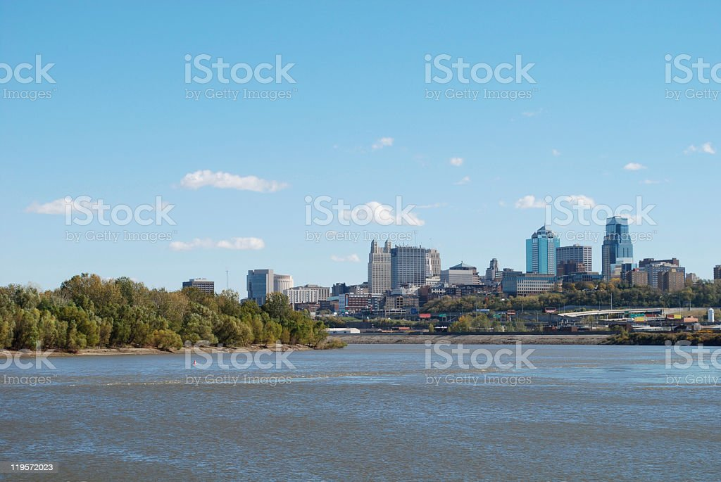 Two Rivers Colliding stock photo