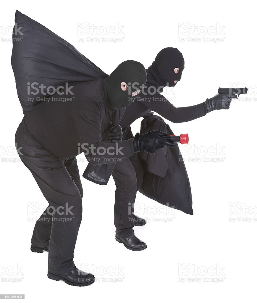 two robbers stock photo