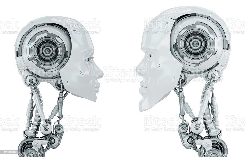 Two robotic creatures stock photo