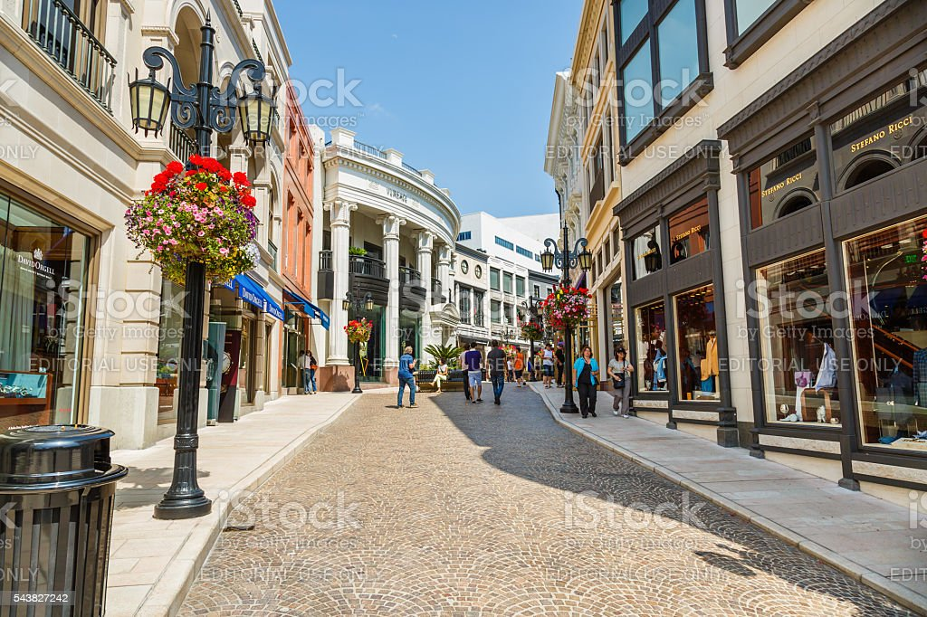 Two rodeo drive alley, Beverly Hills, Los Angeles, California, U stock photo