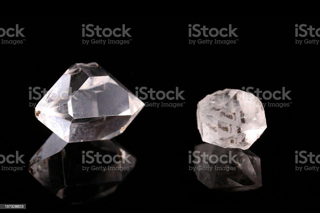 Two Rough Diamonds royalty-free stock photo