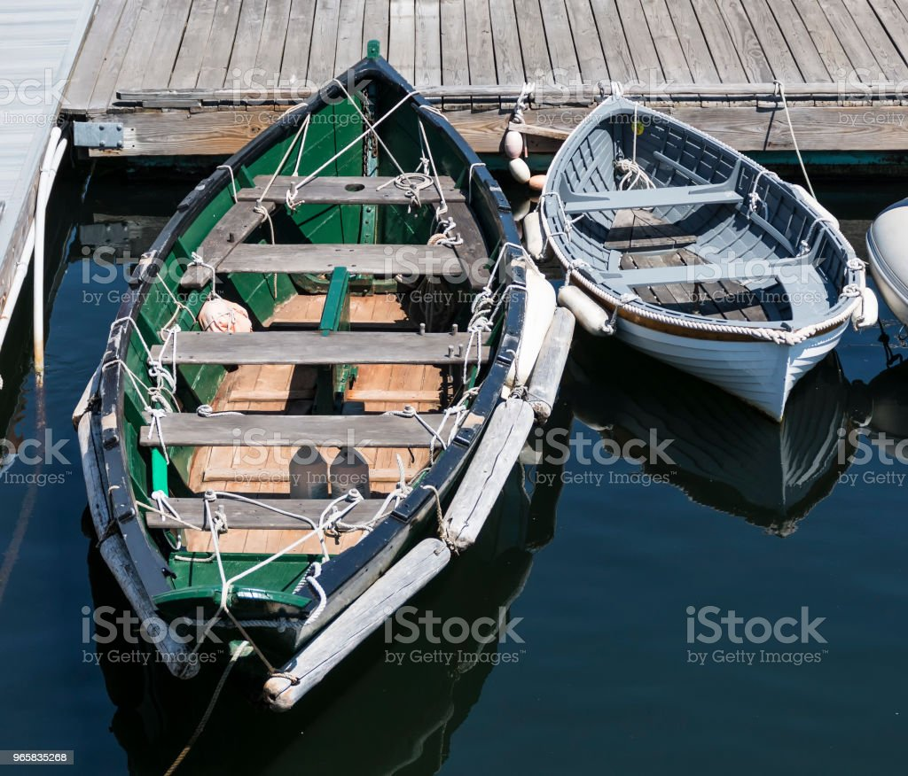 Two row boats tied together - Royalty-free Bay of Water Stock Photo