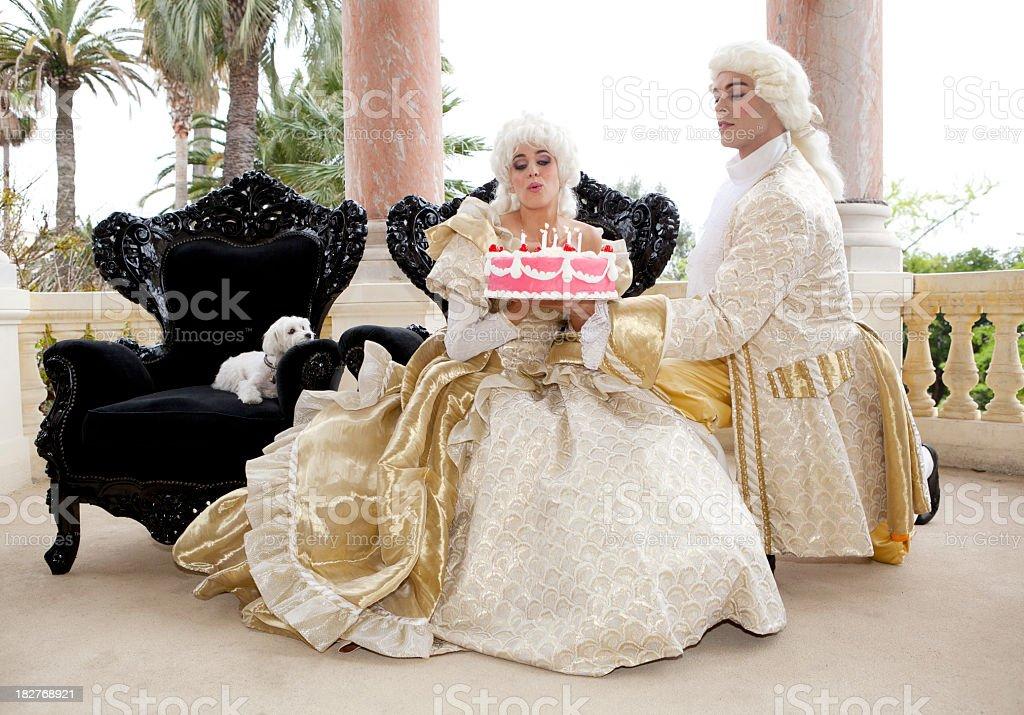 Two royals celebrating birthday stock photo