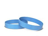 Two rubber bracelets