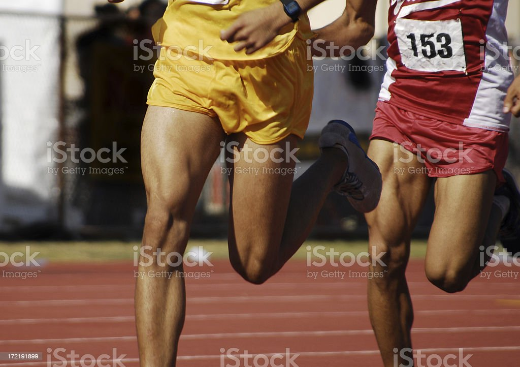 two runners stock photo