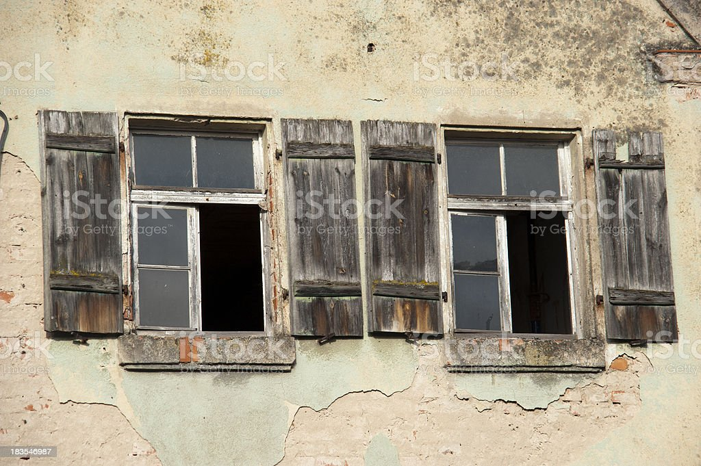 two rural windows royalty-free stock photo