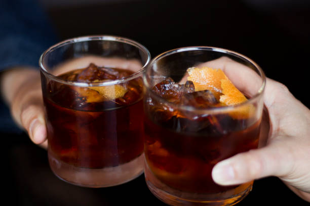 Two Rye Whiskey Cocktails in a Toast