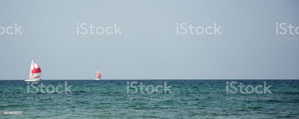 Two Sailboats stock photo