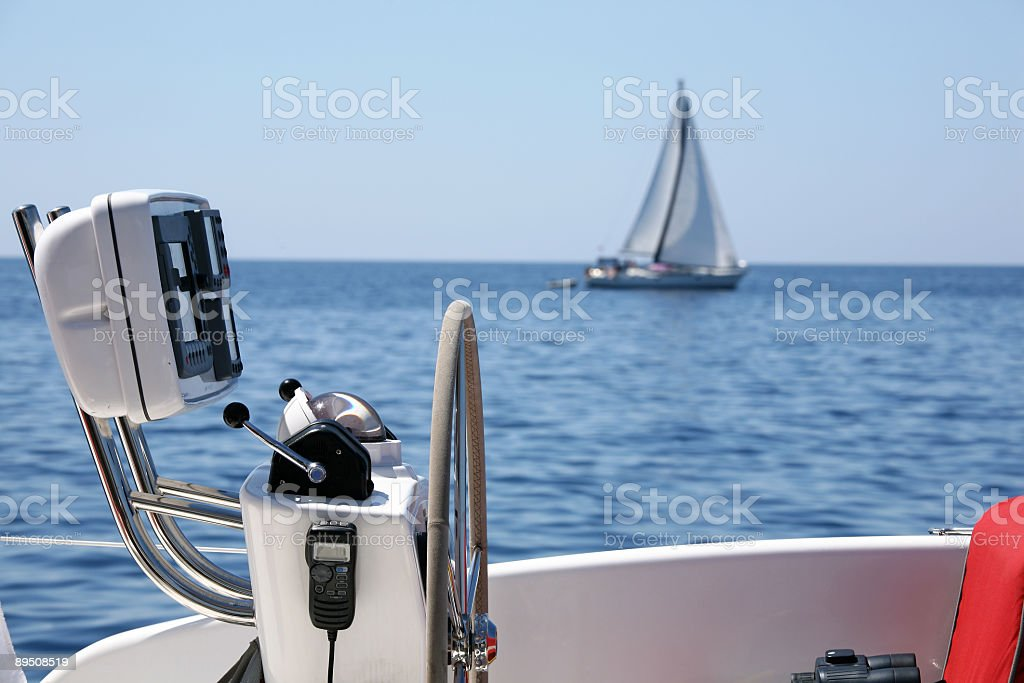 Two sailing boat royalty-free stock photo