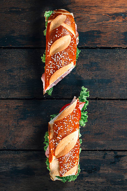 Two sandwich stock photo