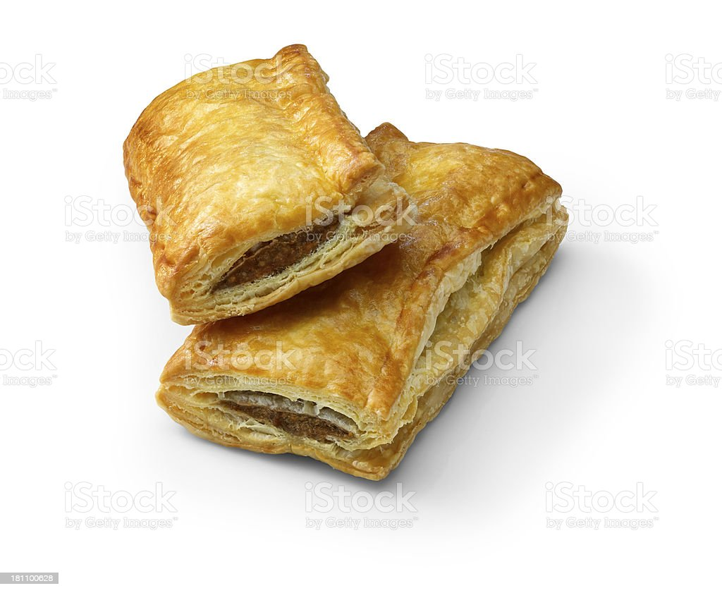 Two Sausage Rolls stock photo