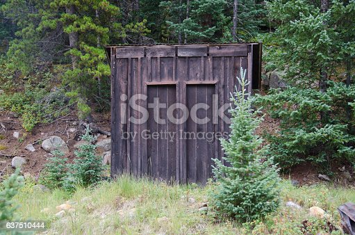 A two seater outhouse in the ghost town of St. Elmo, Colorado was probably the precursor to public restrooms!
