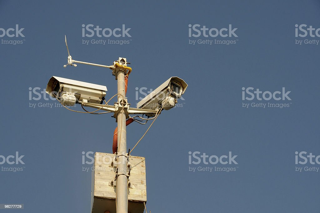 two security cameras royalty-free stock photo