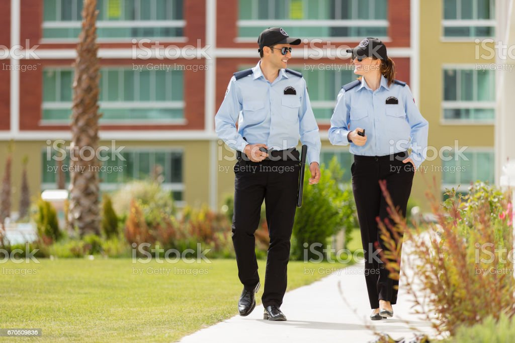 Two Security Guard stock photo