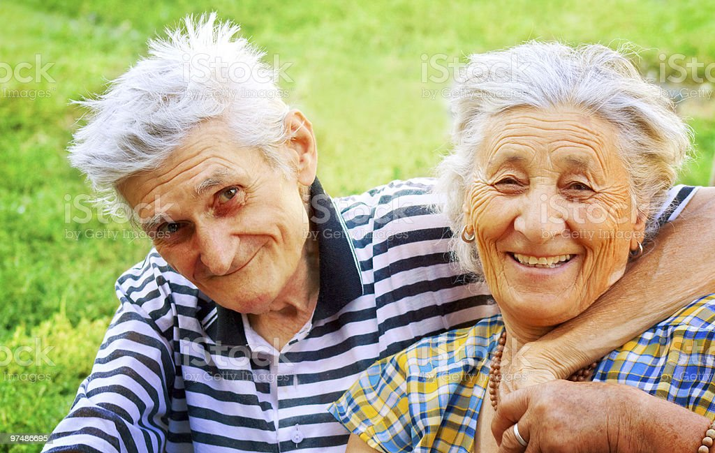 Two seniors in love royalty-free stock photo
