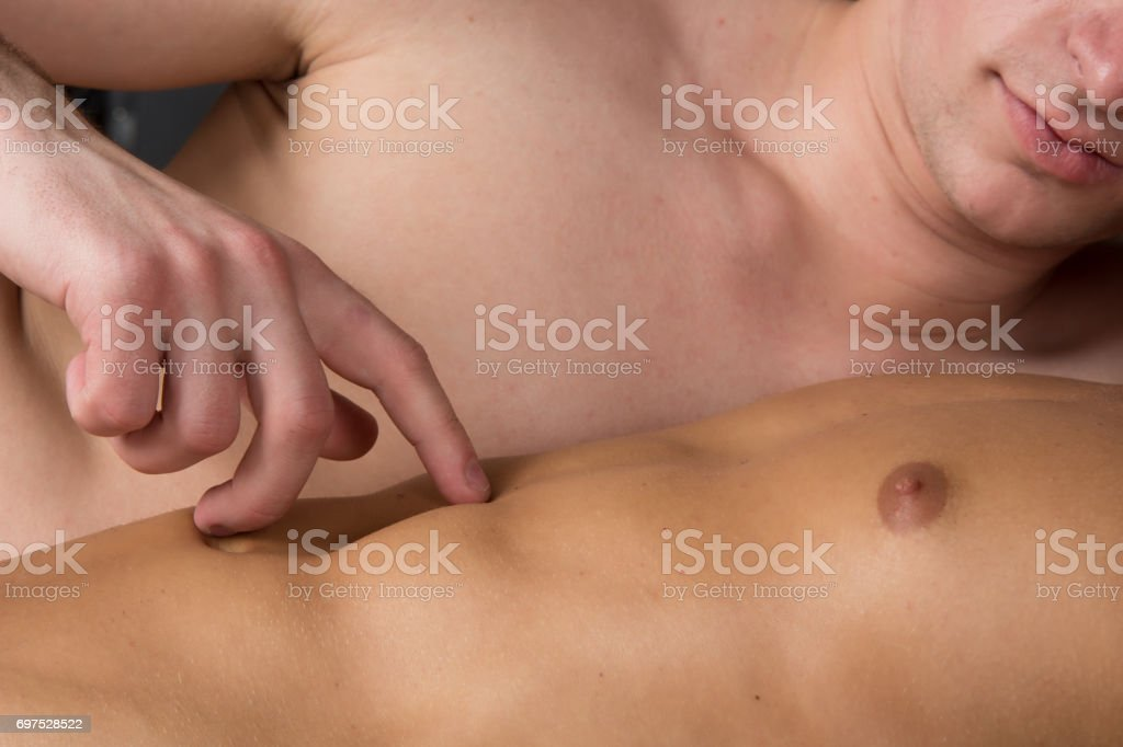 Two sexy guys. Love and Relationships. Sex and passion. Tenderness and beauty. Two men love each other. stock photo