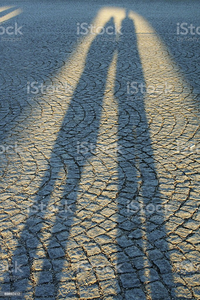 Dos sombras foto de stock libre de derechos