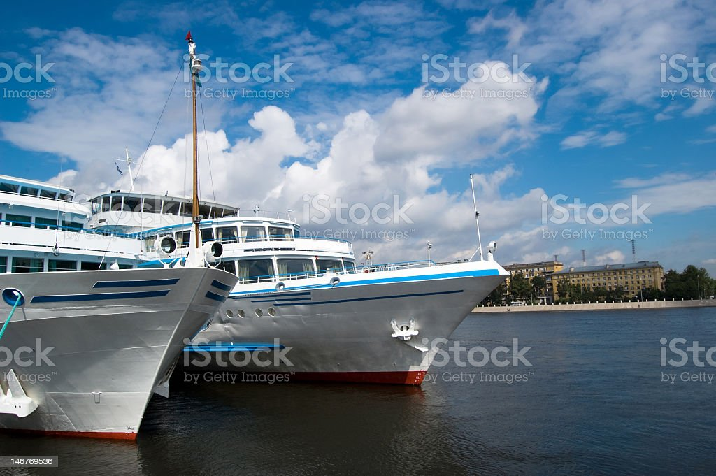 Two ships royalty-free stock photo