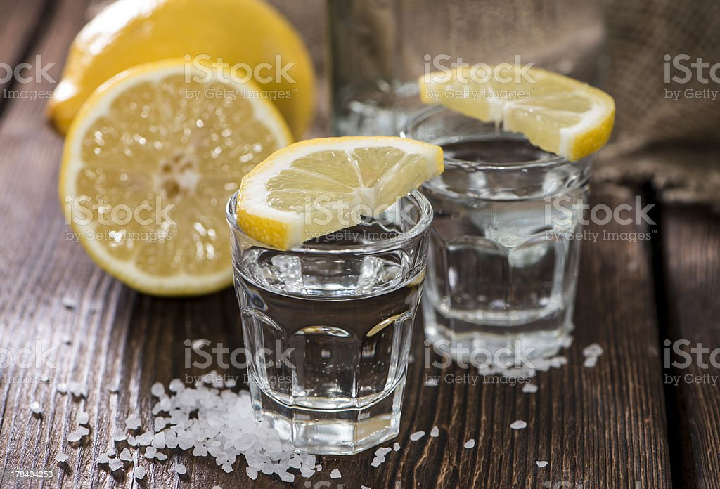 Two Shots (Tequila) royalty-free stock photo