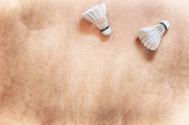two shuttlecock on floor - shuttlecock stock pictures, royalty-free photos & images