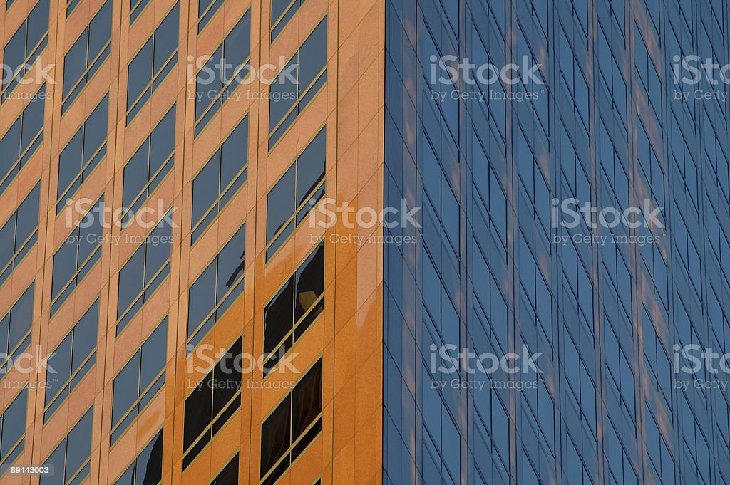 Two sides of the same building royalty-free stock photo