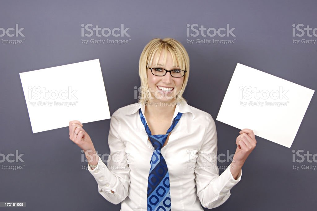 Two Signs stock photo